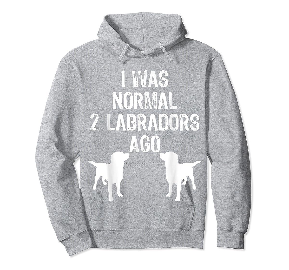 I Was Normal 2 Labradors Ago - Funny Retriever T Shirt-Hoodie-Sport Grey