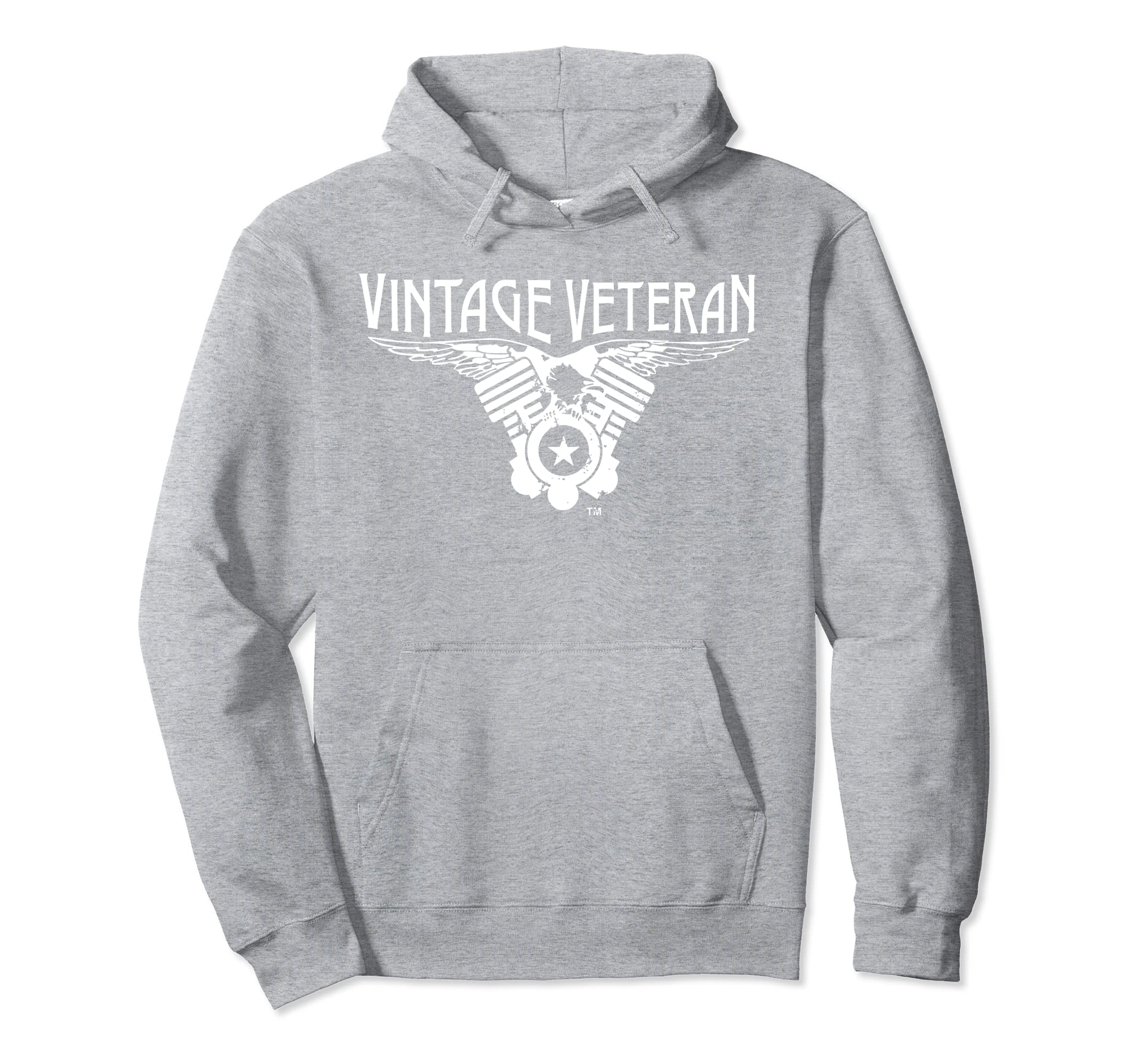 Vintage Veteran Hoodie V-Twin Eagle-Rose