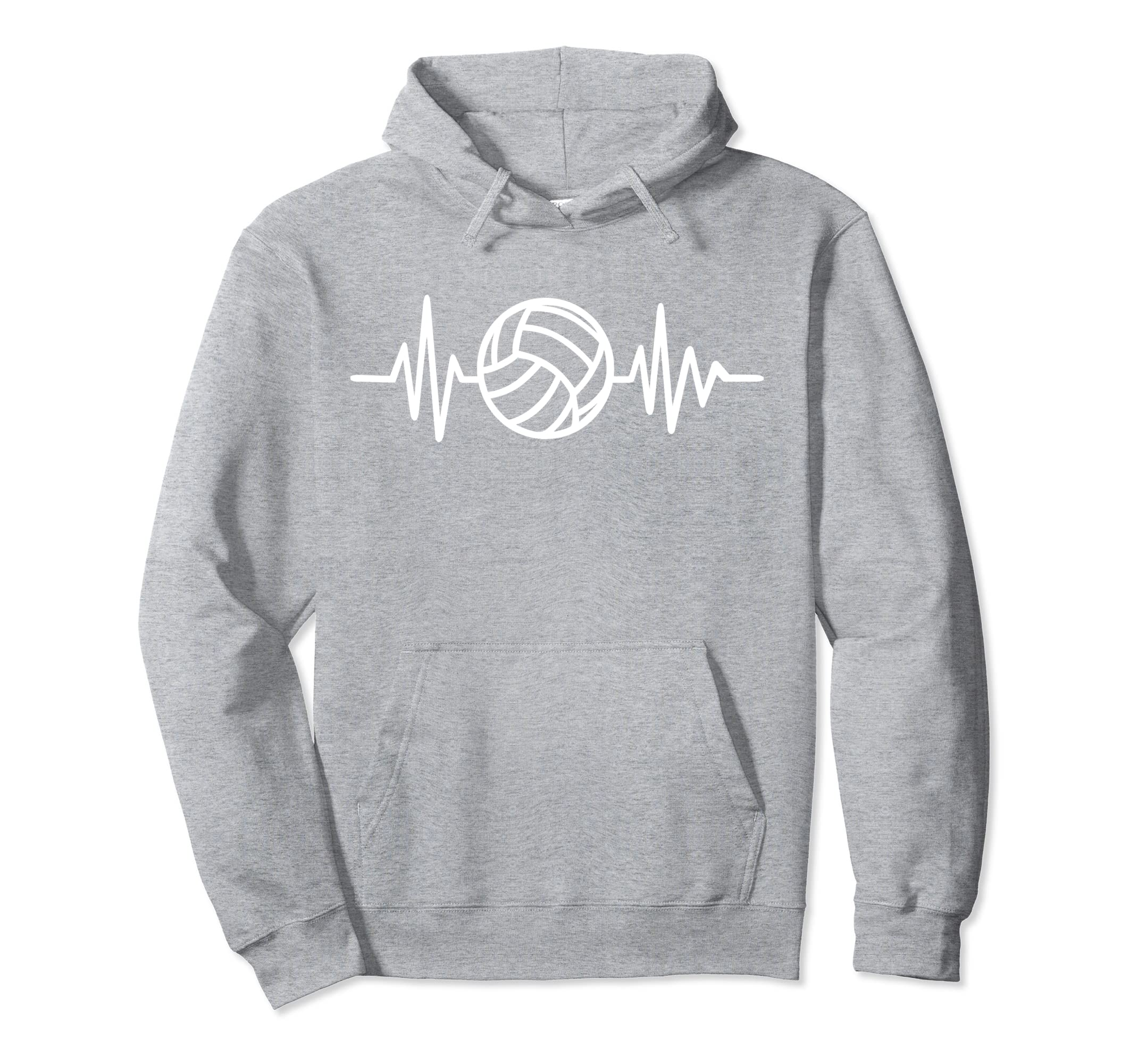 Volleyball Hoodie   Lifeline with Volleyball Heartbeat-ln