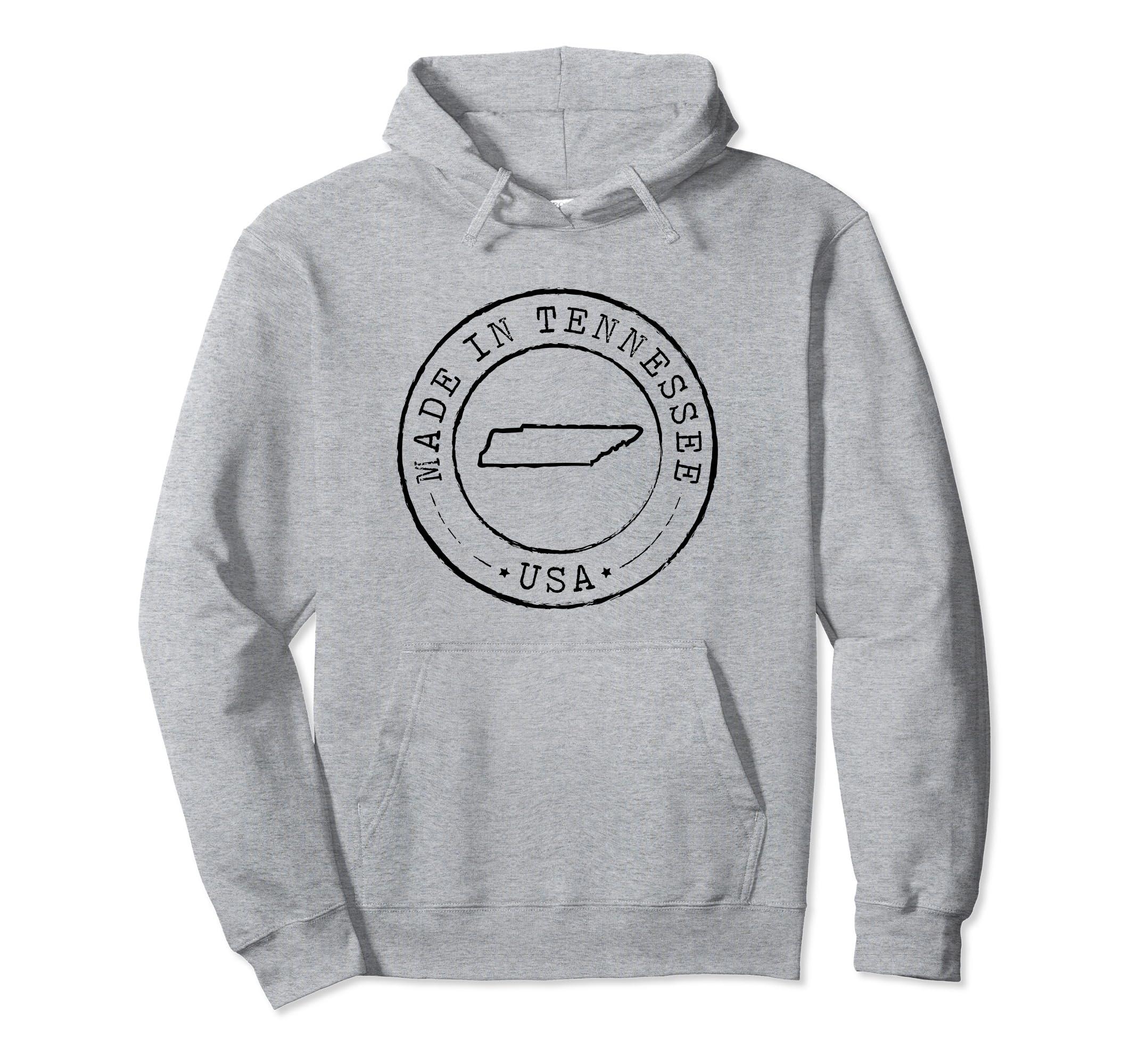 Made in Tennessee Hoodie Sweatshirt State TN Vintage Gift