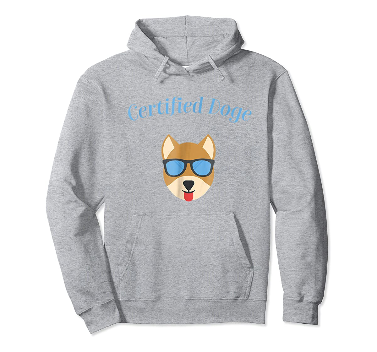 Certified Doge Tee Shirt for puppy Dog love and Fur Babies-Hoodie-Sport Grey