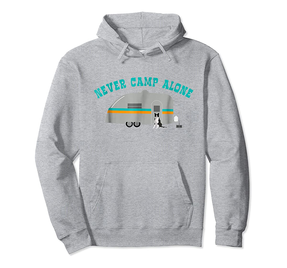 Border Collie Dog RV Shirt Funny Camping Travel Trailer-Hoodie-Sport Grey