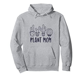 9107a59369 Image Unavailable. Image not available for. Color  Cute Cacti Plant Mom  Cactus Succulent Lover Hoodie Pullover
