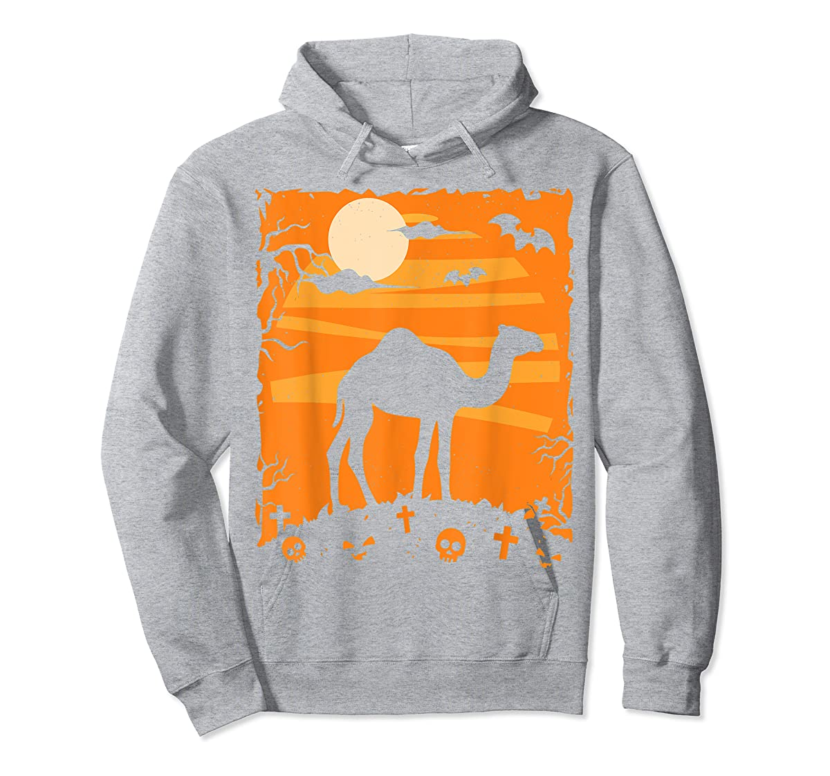 Camel Halloween Costume Animal Funny Pumpkin Outfit Gift T-Shirt-Hoodie-Sport Grey
