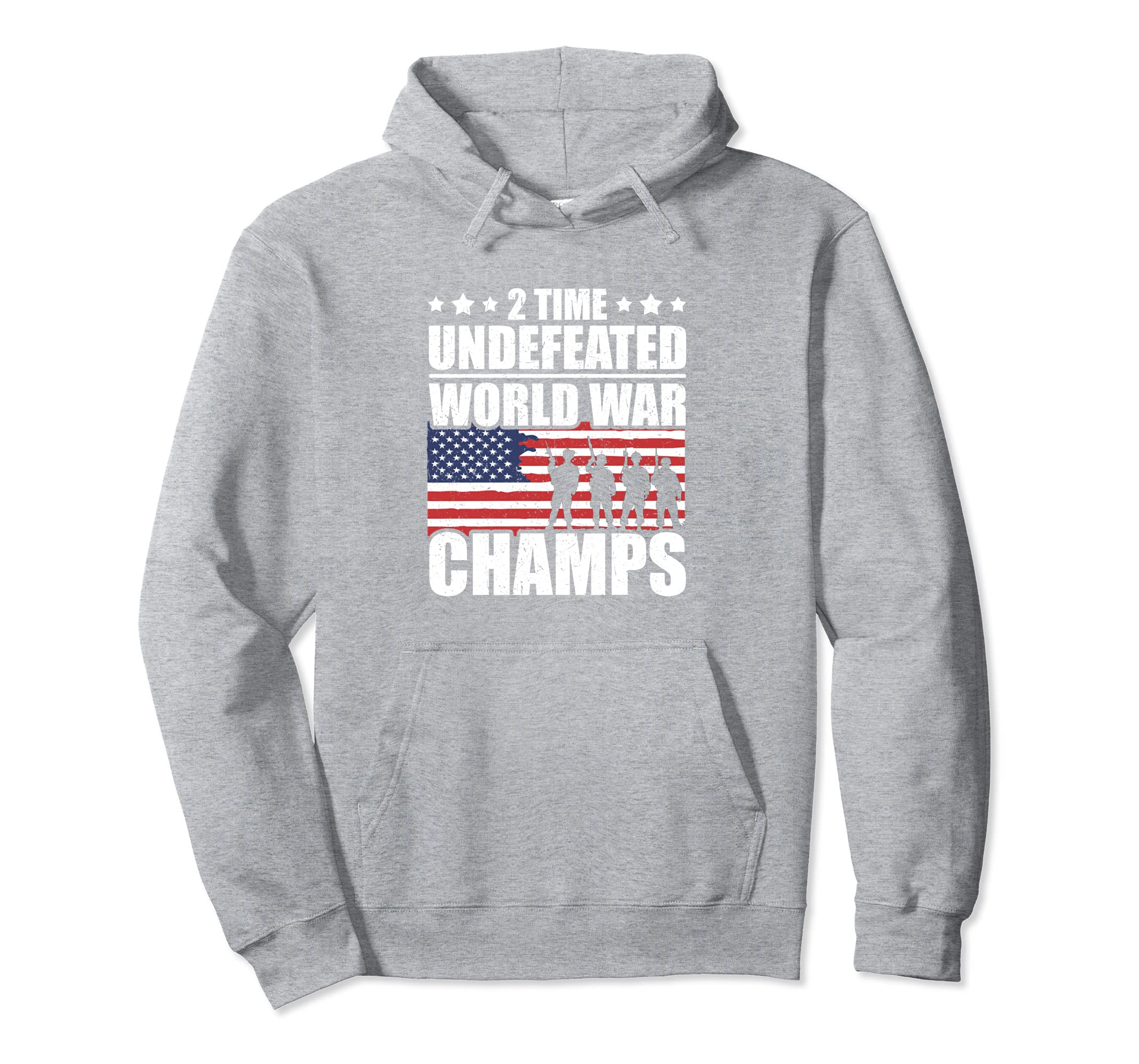 2 Time Undefeated World War Champs Hoodie Flag Hoodie- TPT