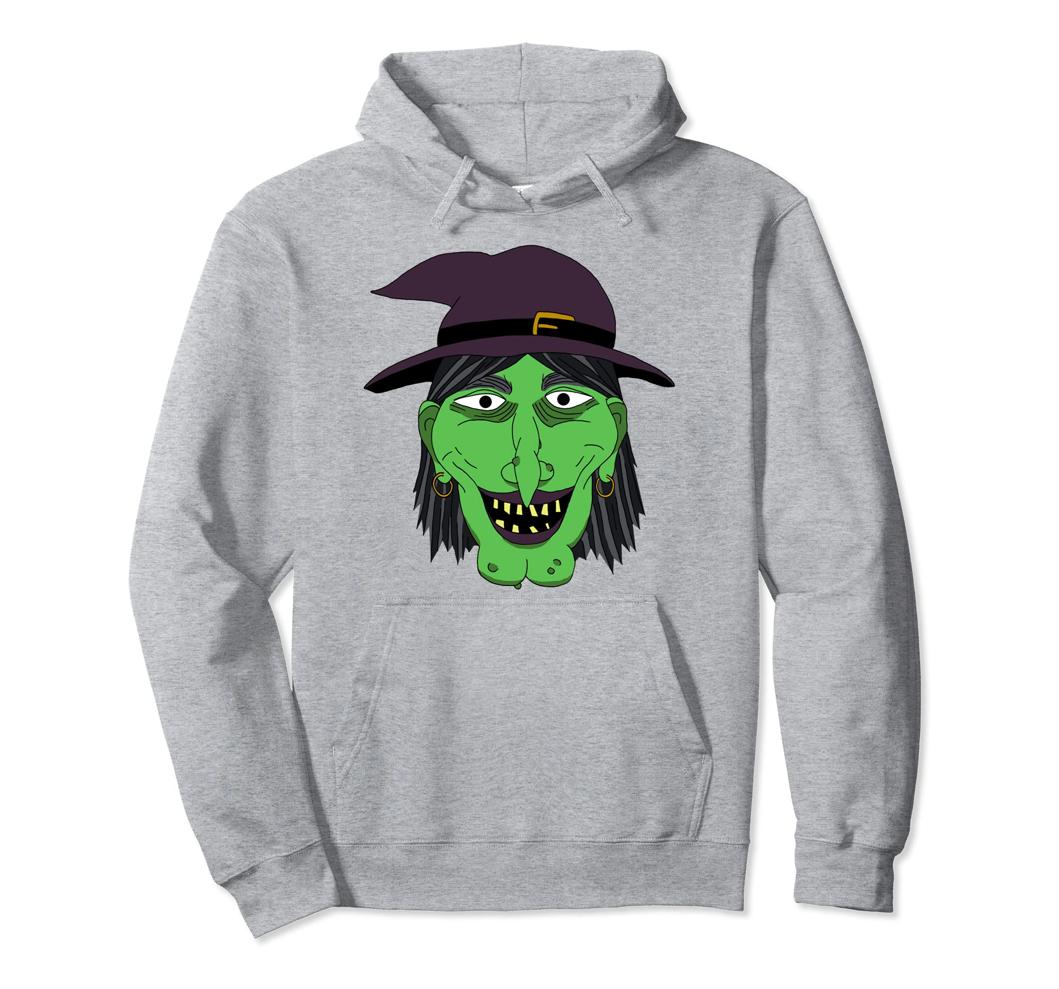Witch Costume Hoodie Graphic Art Halloween Hoodie-Rose