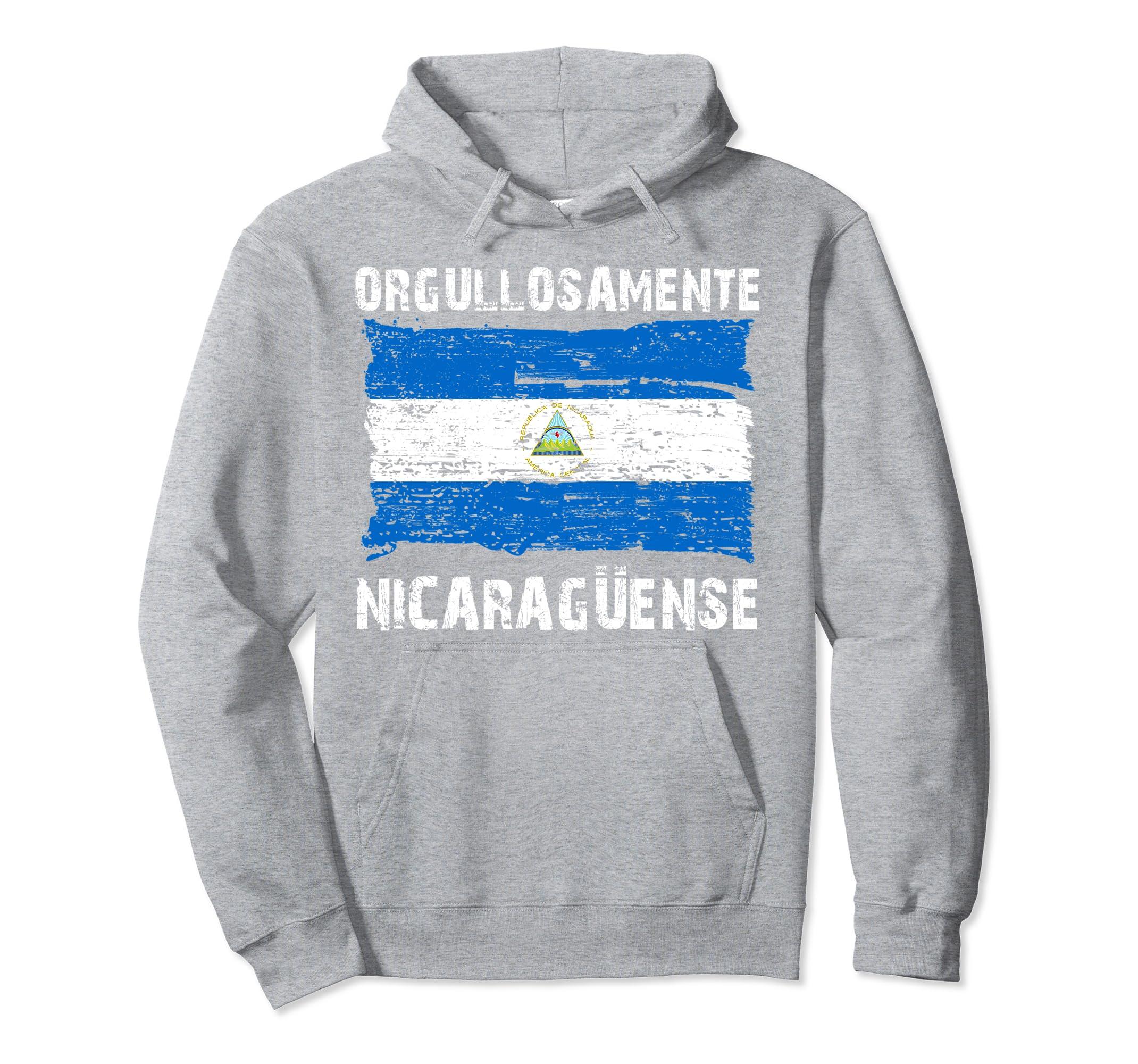 Amazon.com: Orgullosamente Nicaraguense Sudadera para hombres y mujeres: Clothing
