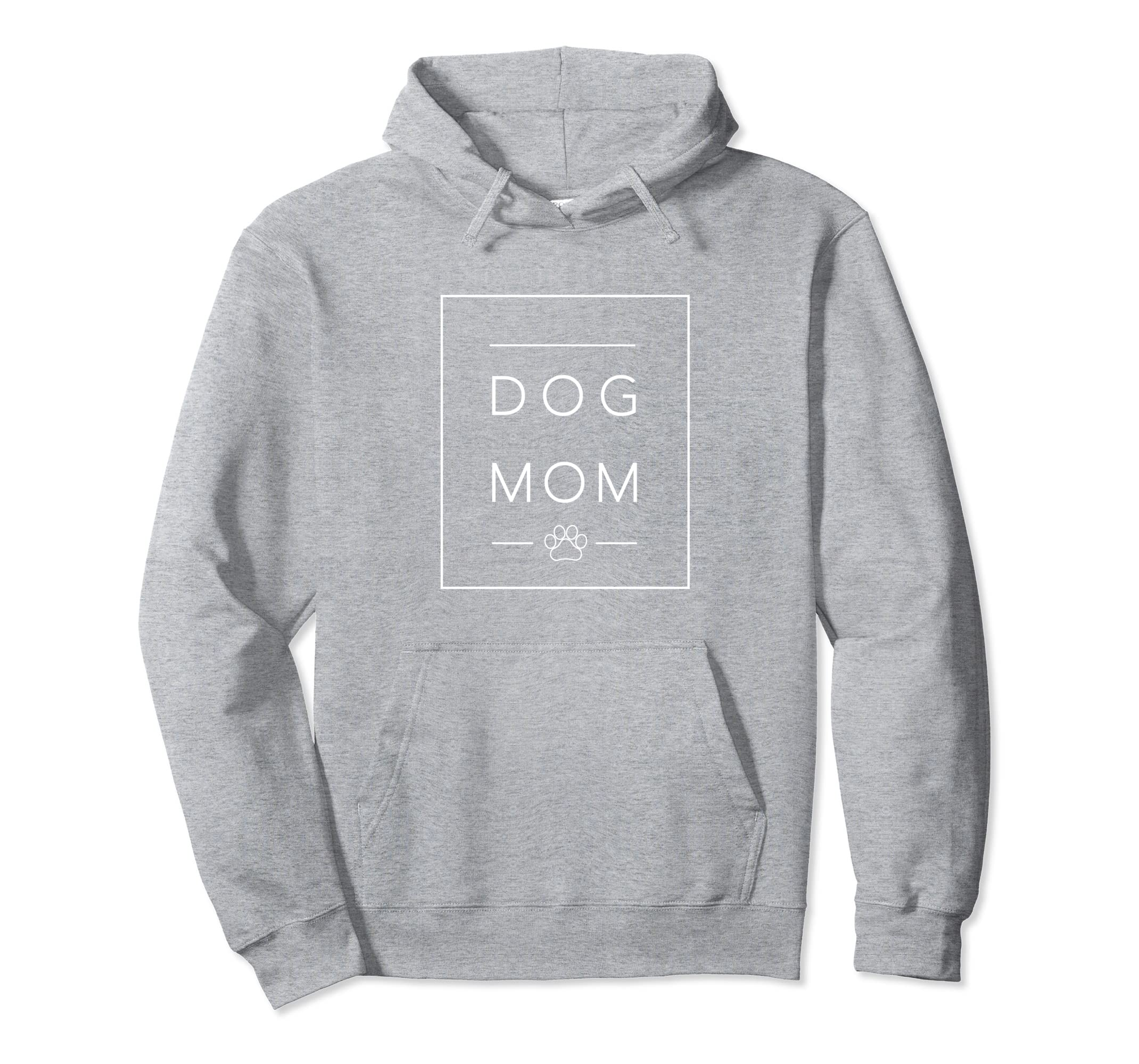 Dog Mom Paw Print Graphic Hoodie|Rescue Animal Lover Apparel-azvn