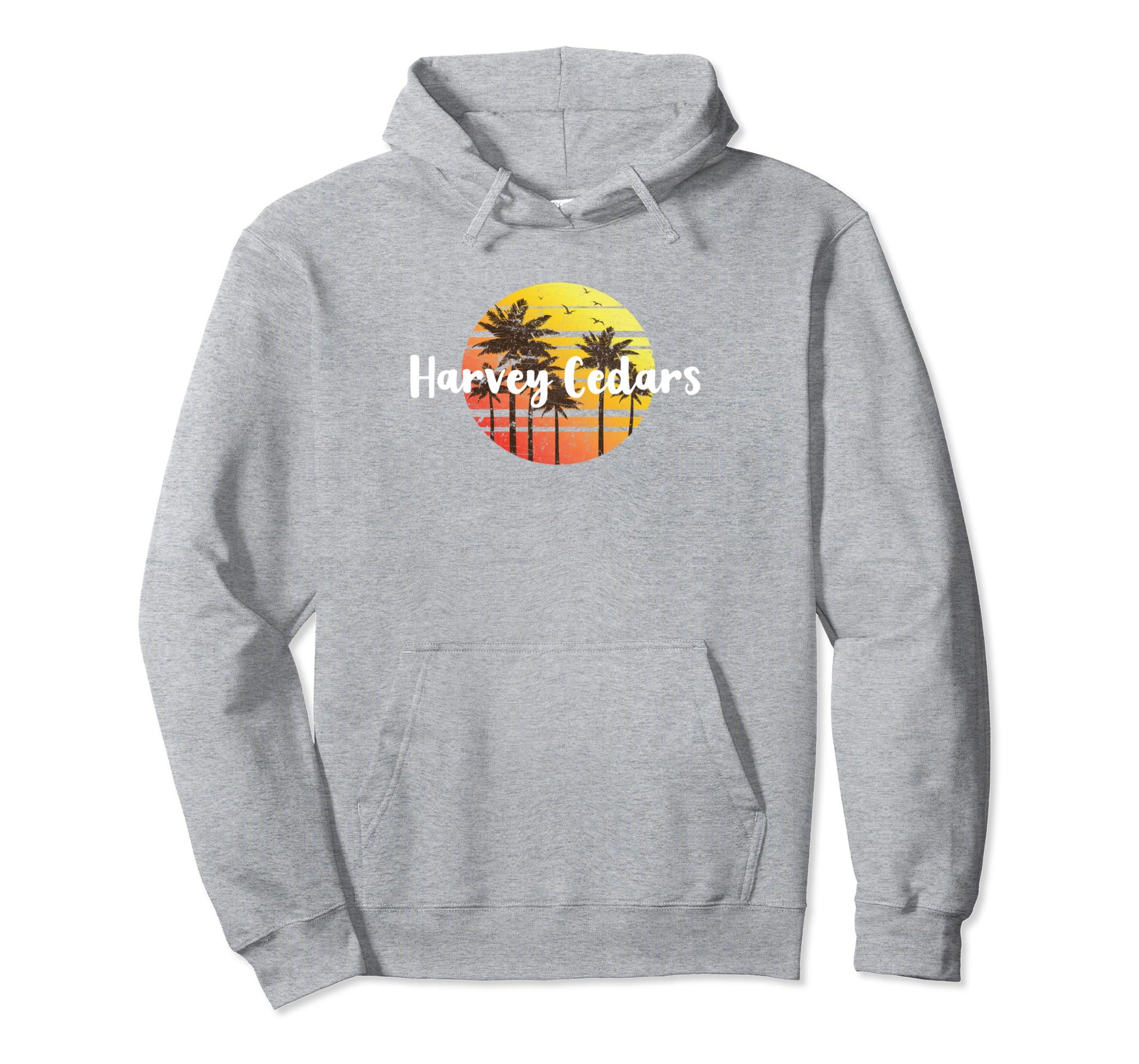 Vintage Harvey Cedars Sunset Gift Souvenir Hoodie-azvn