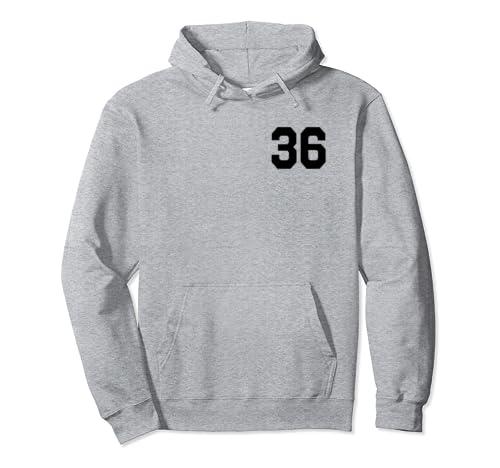 Fan Of 36 Baseball Basketball Softball Football Player Pullover Hoodie
