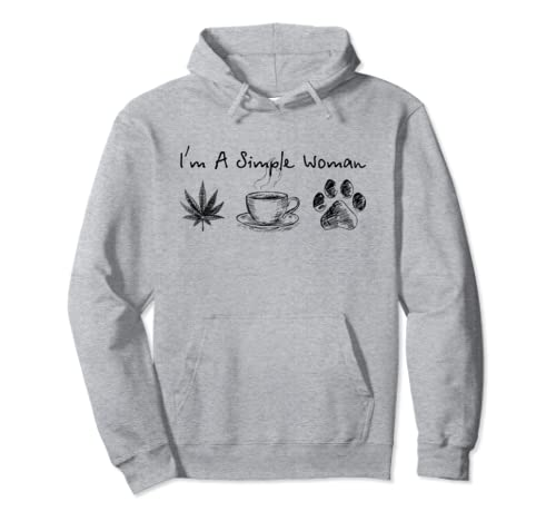I'm A Simple Woman Weed Coffee Dog Pullover Hoodie