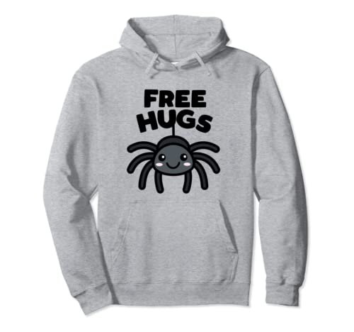 Free Hugs Cute Spider Kawaii Halloween Dark Pullover Hoodie