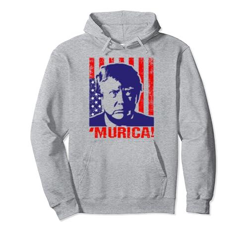 Trump 2020 Murica Republicans Gift Pullover Hoodie