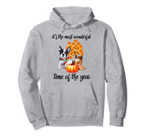 Halloween It's The Most Wonderful Time Of The Year Frenchie Pullover Hoodie
