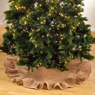 fenncostyles.com Holiday DÃcor Ruffle Trim Jute Burlap Xmas Tree Skirt, 53-inch Round (Natural)