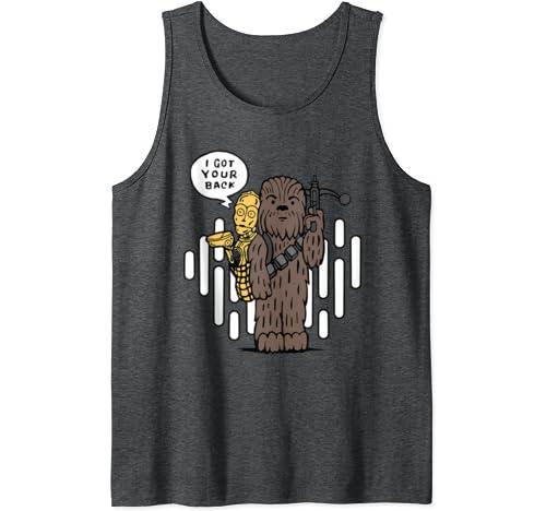 Star Wars Chewbacca & C 3 Po I Got Your Back Cartoon Tank Top