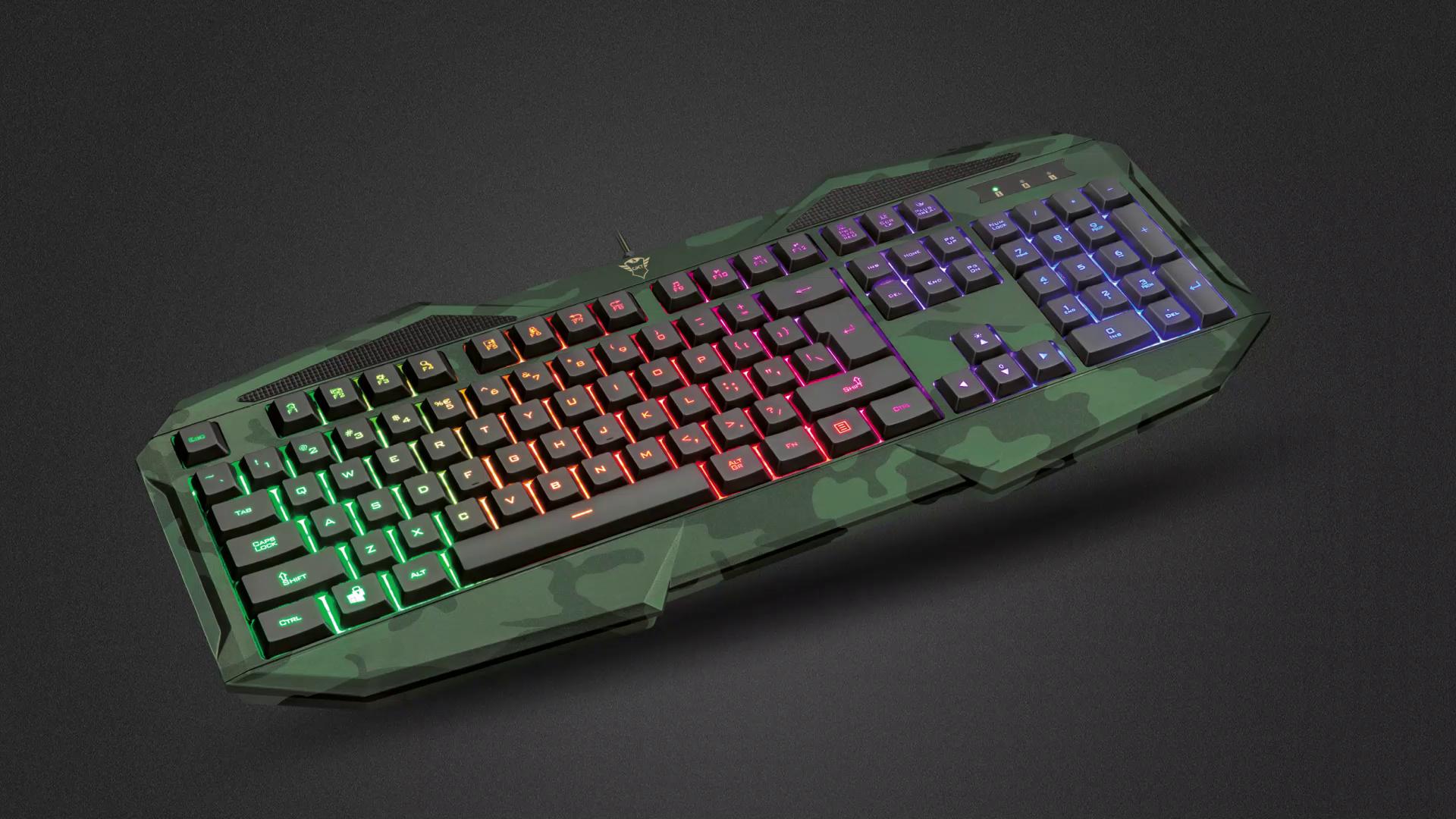 Trust Gaming GXT 830 RW Avonn Gaming Toetsenbord Keyboard