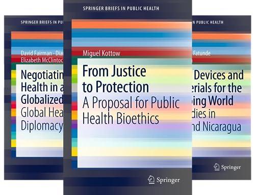 SpringerBriefs in Public Health (50 Book Series)