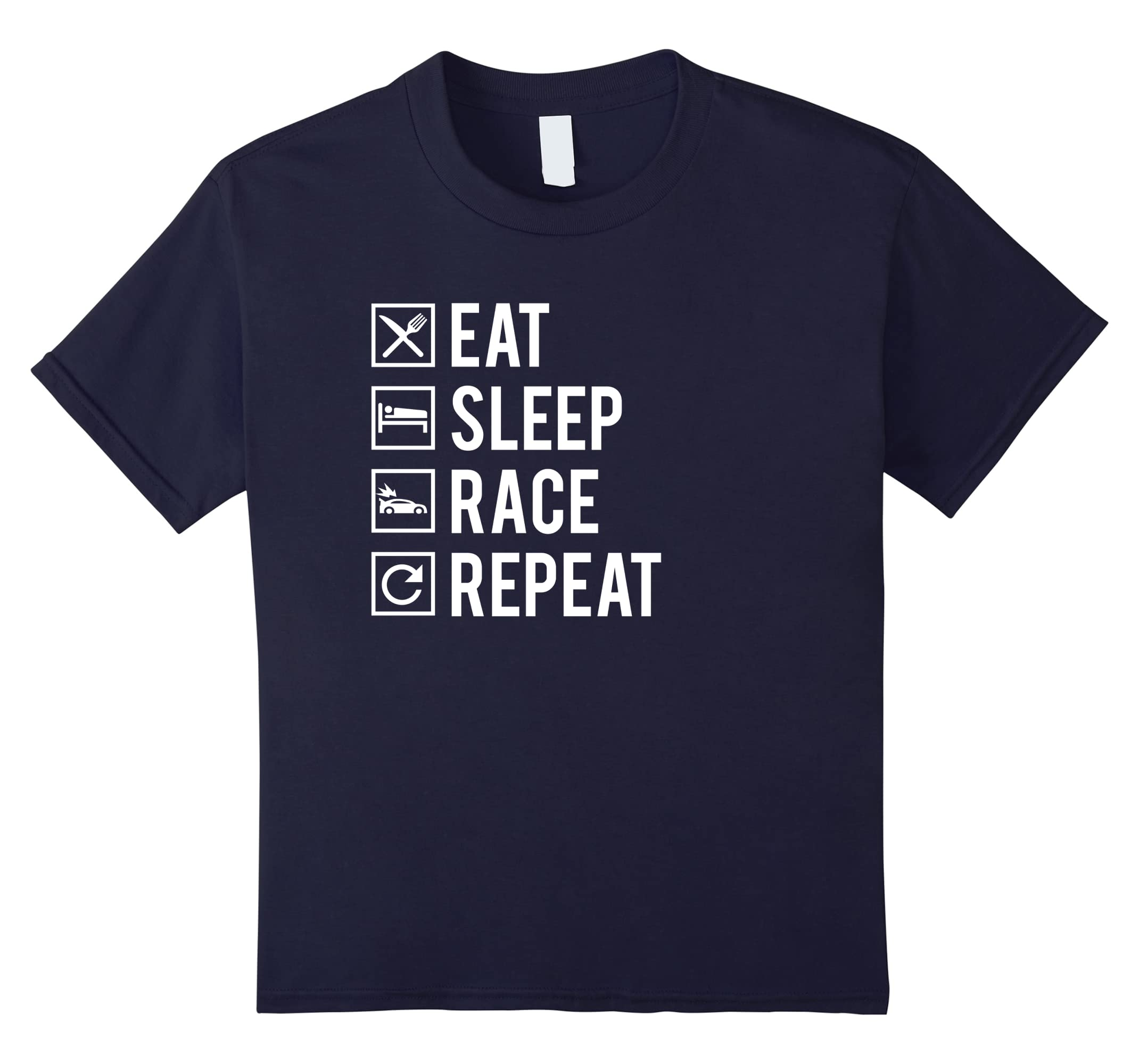 Vintage Racer T Shirt Repeat T shirt-Newstyleth