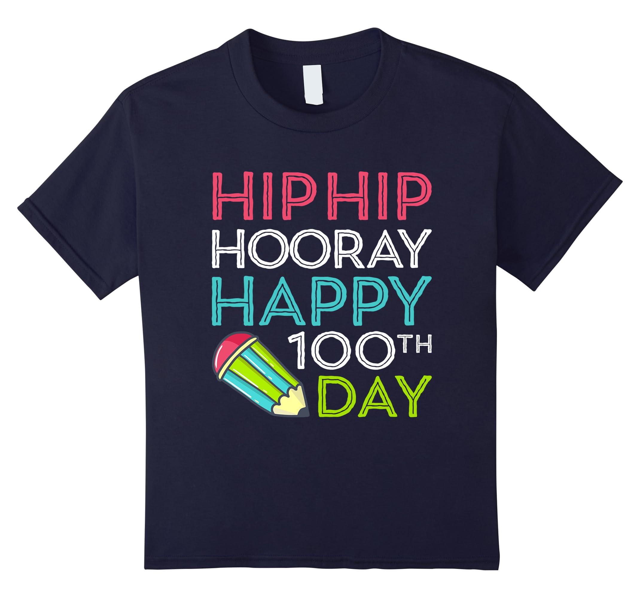 Hooray Happy 100th T Shirt Teacher-Colonhue