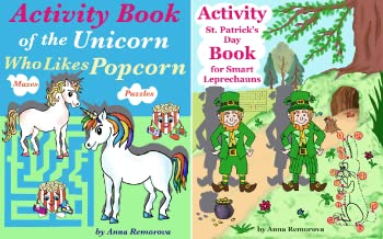 """Brain Power """"ON"""" – Activity Books for Kids (2 Book Series)"""