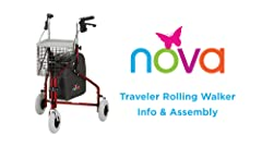 Amazon.com: NOVA Medical Products Traveler - Andador con ...