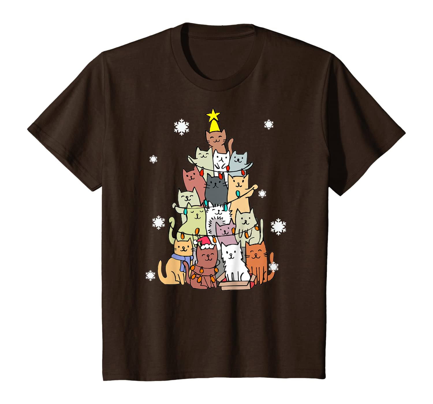 Ugly Christmas Sweater Cat Tree – Funny Xmas Cat Gift T-Shirt Youth
