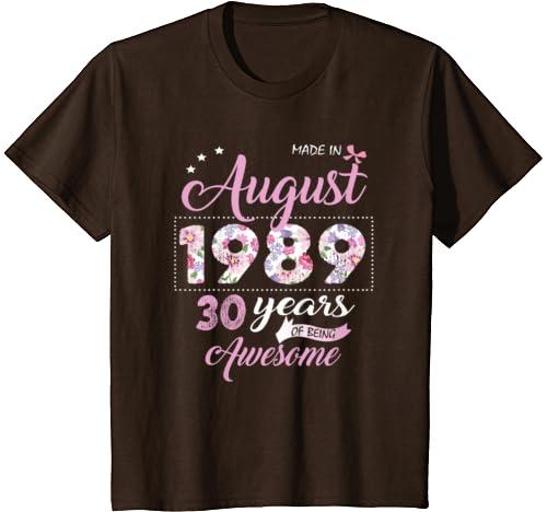 Amazon.com: August Girl 1989 - Camiseta de 30 años de edad ...