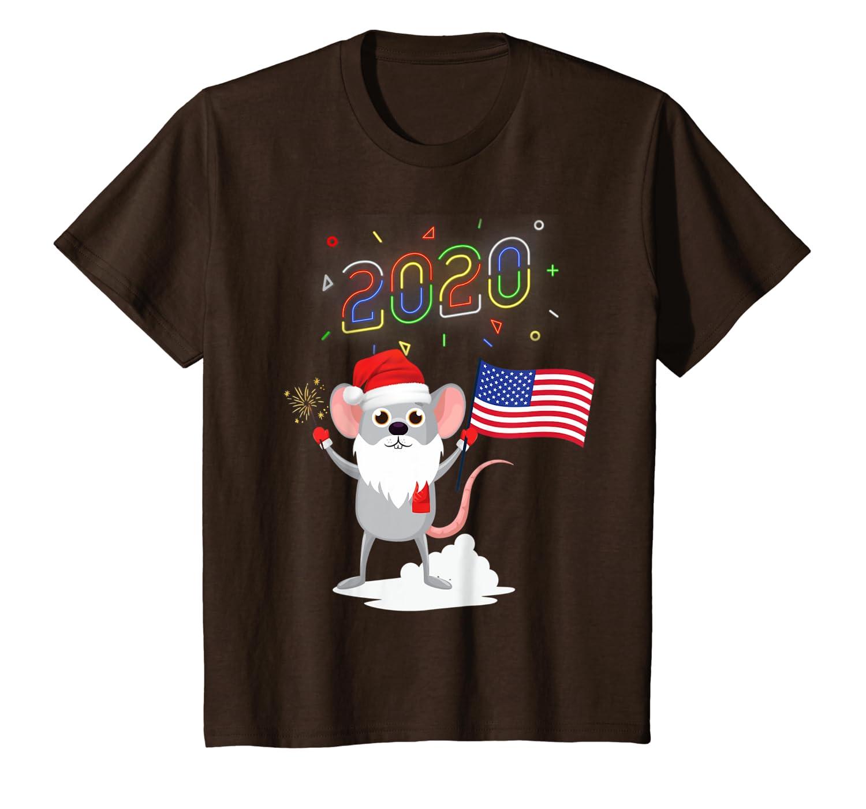 Happy New Year 2020 Rat T Shirt Snowball Sparkler Beard T-Shirt
