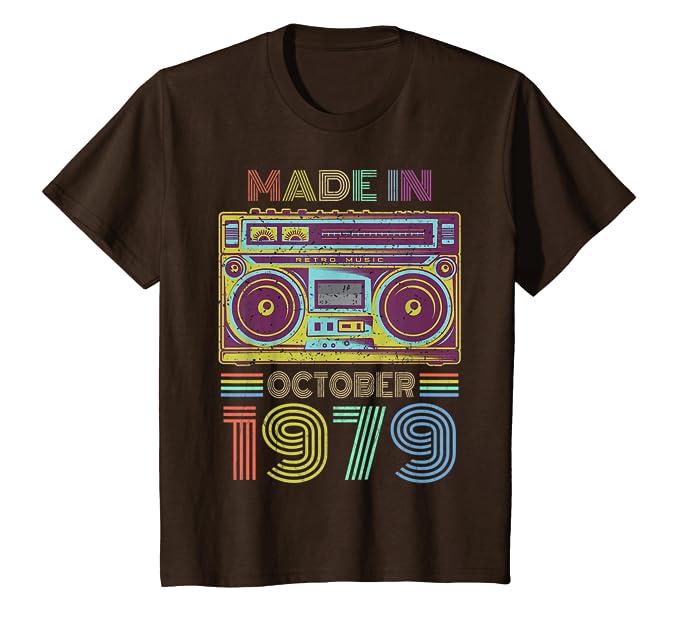 Amazon.com: Fabricado en 1979 Octubre camiseta Mix Tape 40th ...