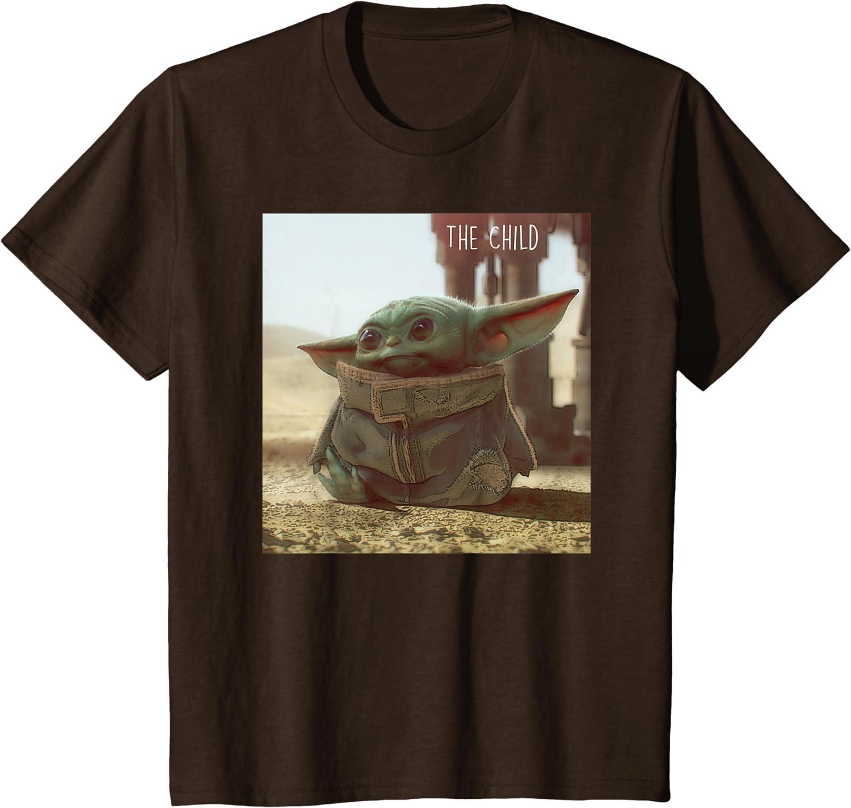 Mandalorian /& Baby Yoda the Child T-shirt NEW Bright Colors Star Wars