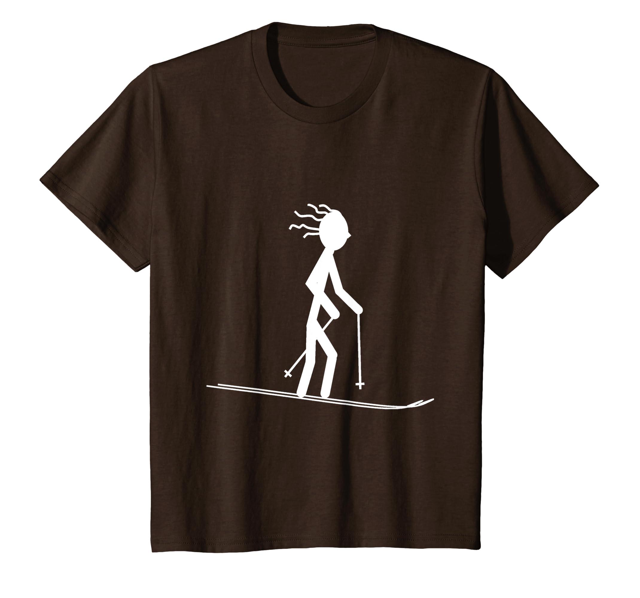 96984ae499 Amazon.com: Funny Ski Shirts   Skiing Shirts   Snow Ski T Shirt: Clothing