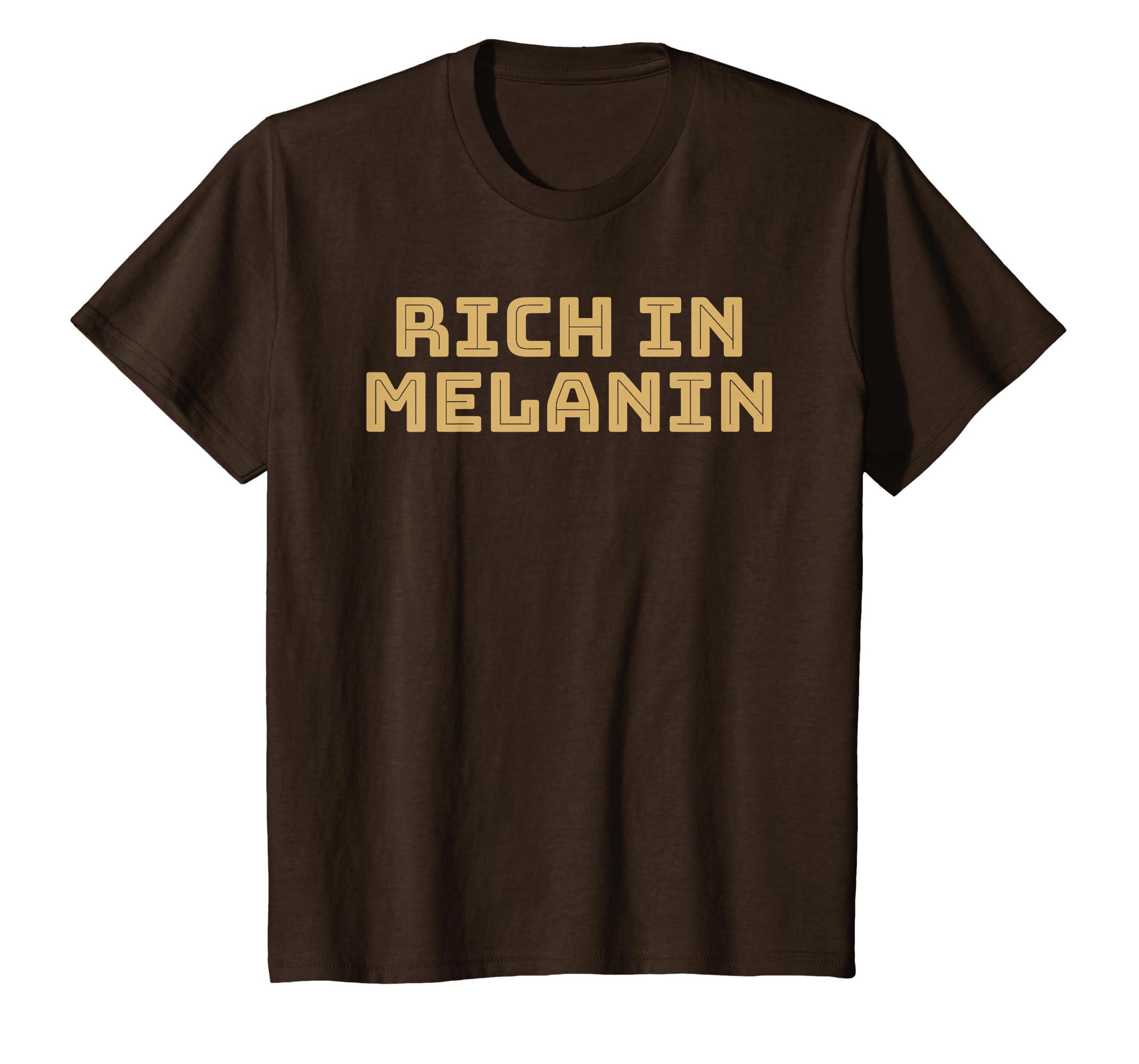 Amazon Com Rich In Melanin African American Shirt For