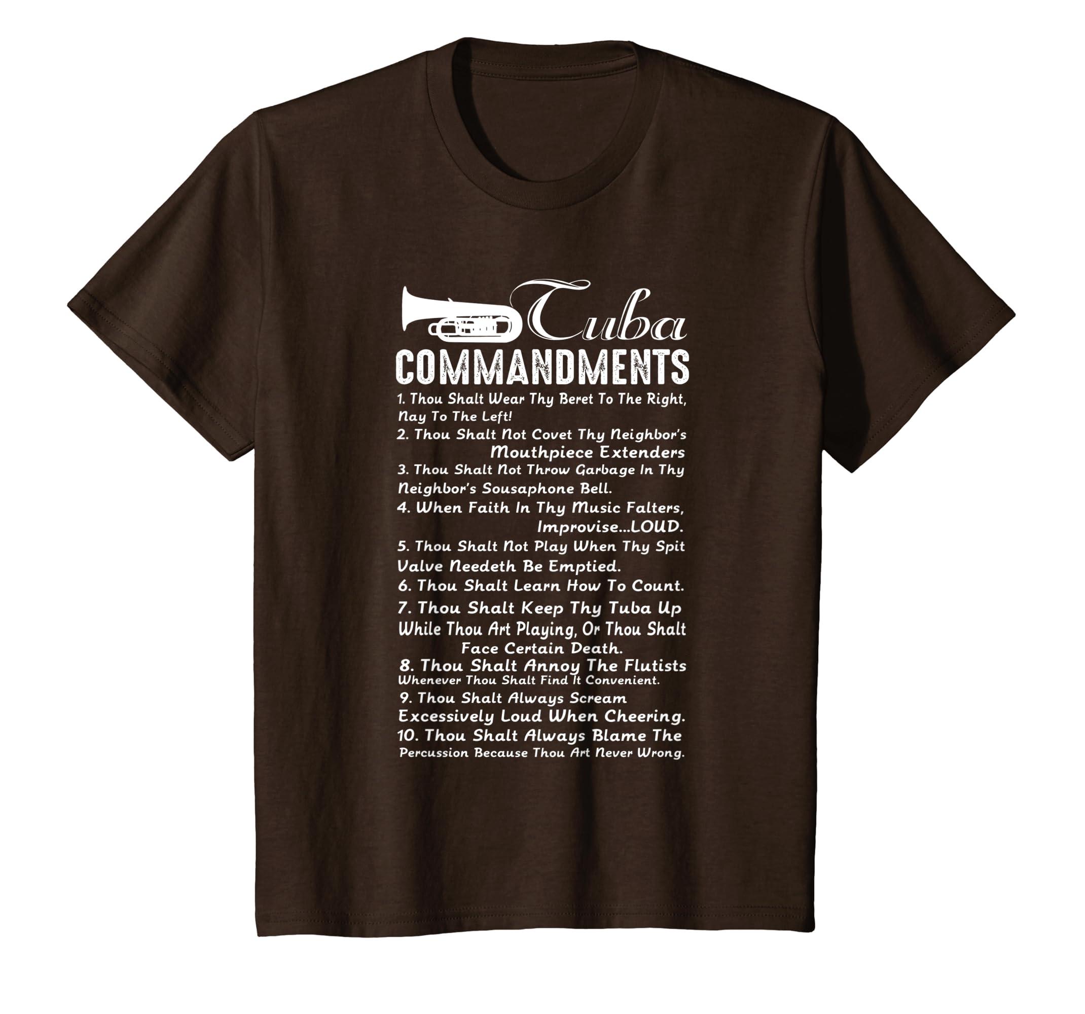 264381309 Amazon.com: Tuba Shirt - Tuba Commandment T-shirt: Clothing