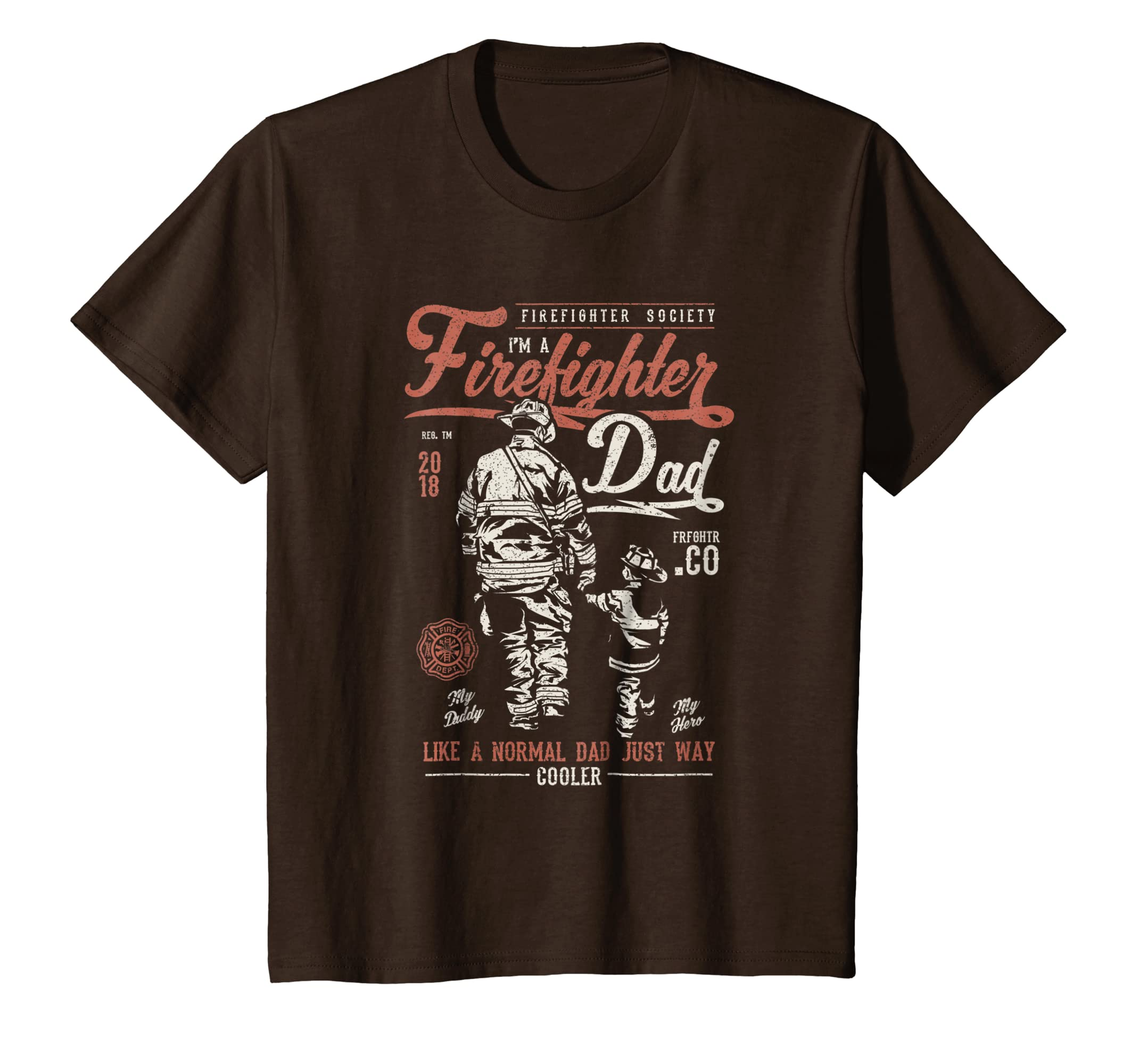 Amazon.com: Firefighter Dad Shirt - Vintage Fireman Gift T-Shirt ...