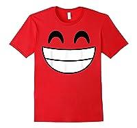 Halloween Emojis Costume Shirt Cheerful Laughing Emoticon T-shirt Red