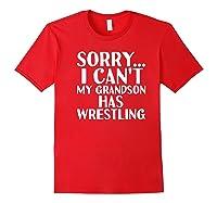Grandpa Grandma My Grandson Has Wrestling Shirts Red