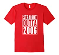 Straight Outta 2006 Cool Birthday Gift Shirts Red