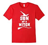 Son Of A Witch Funny Witch Inspired Gifts Premium T-shirt Red