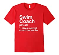 Swim Coach Funny Definition Trainer Gift Shirts Red
