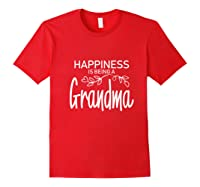 Happiness Is Being A Grandma Fun Trendy Gift Shirts Red