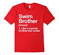 Swim Brother Definition Funny Sports T-shirt Red