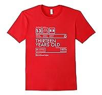 Handling Info Quaranteen Teenager 13 Birthday Gift T-shirt Red
