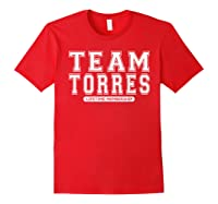 Team Torres Family Surname Reunion Crew Member Gift T-shirt Red