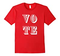 Vote (retro-style) T-shirt Red