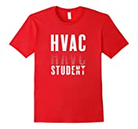 Hvac Stud Student Graduation Heating Hvac Tech T-shirt Red