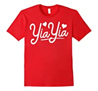 Yiayia For Yiayia Birthday Gifts Cute Yiayia Shirts Red
