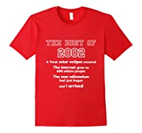 2002 18th Birthday Gift For 18 Year Old Girls Shirts Red