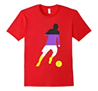 Nonbinary Flag Enby Soccer Football Sports Gay Pride Love Shirts Red