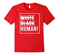 Black Human Shirts Red